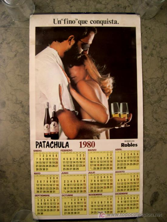 ALMANAQUE DE BODEGAS ROBLES, FINO PATACHULA. 1980 (Papel - Calendarios)