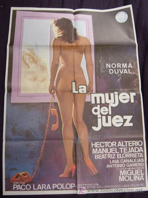 CARTEL ORIGINAL DE LA PELICULA LA MUJER DEL JUEZ (Cine - Posters y Carteles - Clasico Español)