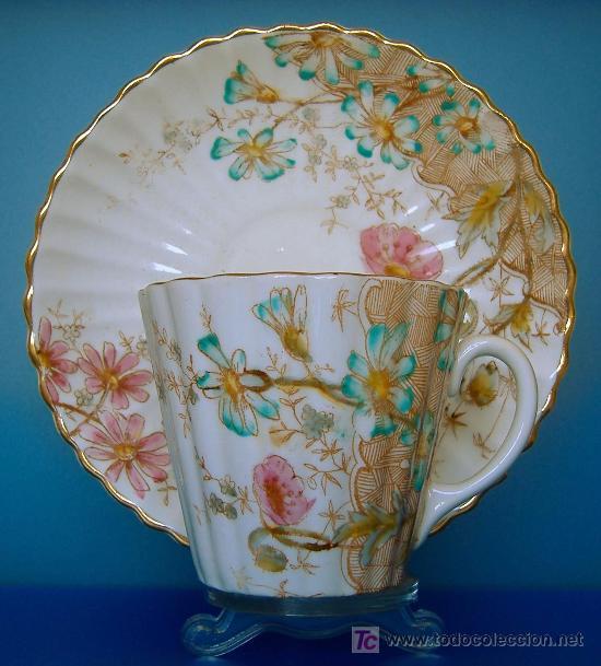 Antigua taza de te victoriana porcelana ingle comprar - Porcelana inglesa antigua ...