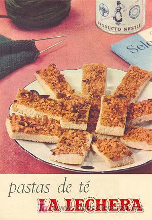 Leche condensada LA LECHERA - Recetas - Pastas de te (Otros Coleccionismos - Varios)
