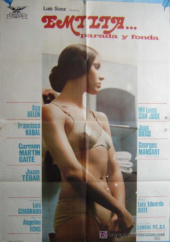 CARTEL DE LA PELICULA: EMILIA...PARADA Y FONDA.- (Cine - Posters y Carteles - Clasico Español)
