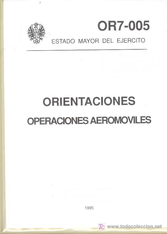 OPERACIONES AEROMOVILES (Militar - Libros y Literatura Militar)