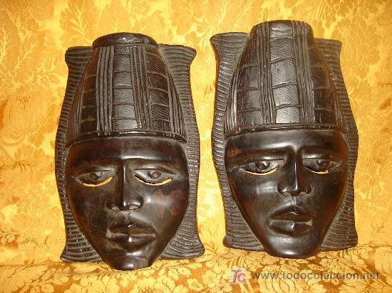 MASCARAS AFRICANAS MADERA DE EBANO (Arte - Étnico - África)
