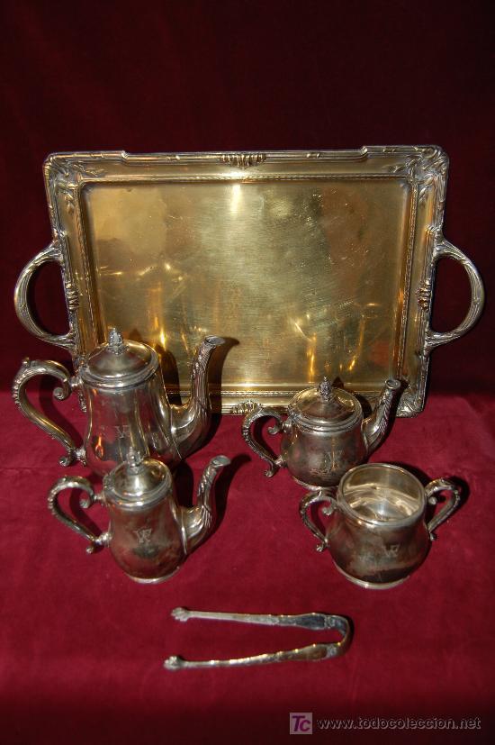 Juego De Baño Antiguo:antiguo juego de café – té con bandeja – Comprar Bañado en Plata en