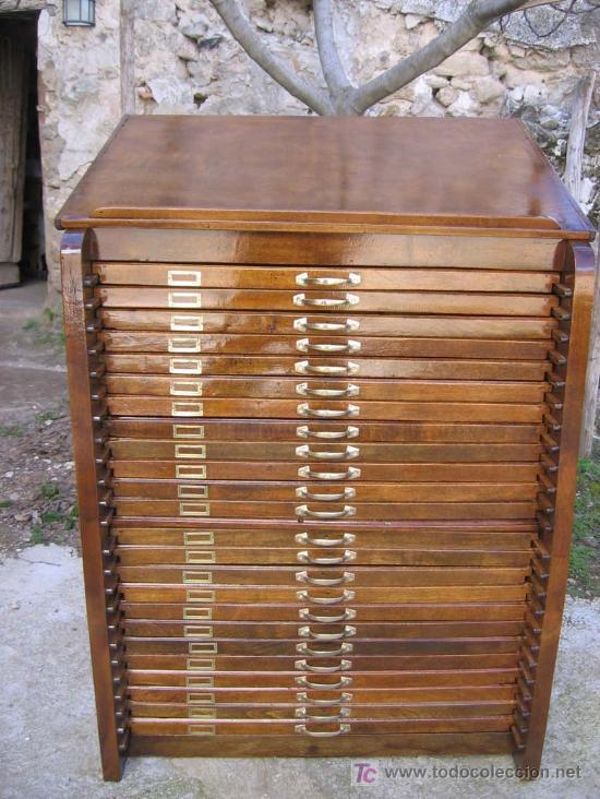 original mueble antiguo de 24 cajones para cole comprar