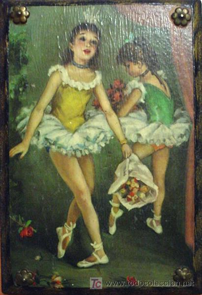 Pintura Sobre Tabla   Bailarinas  Arte   Pintura   Pintura Al   Leo