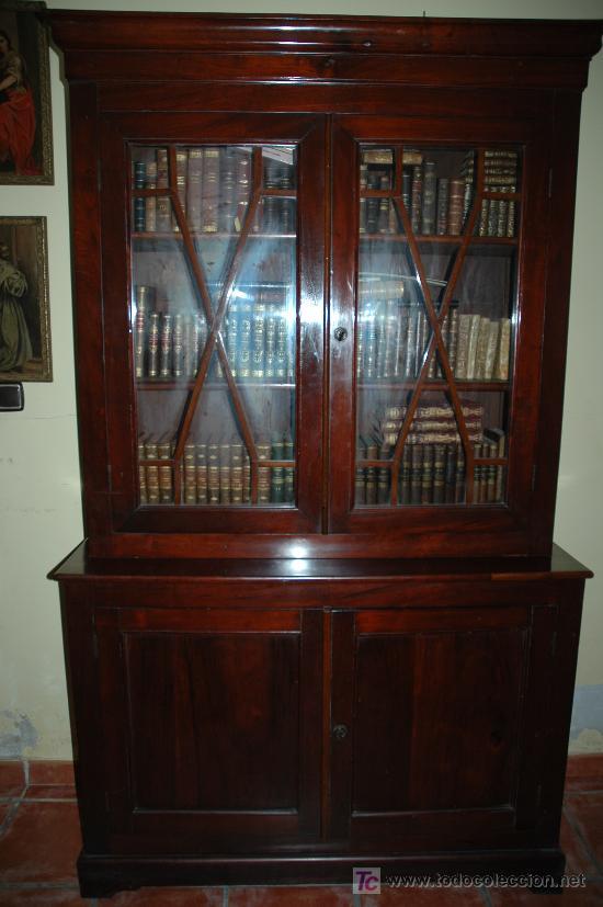 Mueble biblioteca ingles caoba george iii sty comprar for Muebles de caoba antiguos