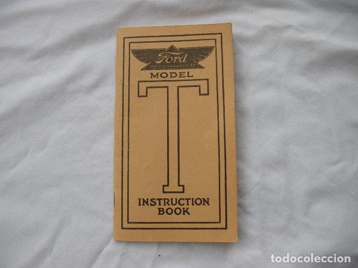 Libro de instrucciones del coche Ford T de 1912