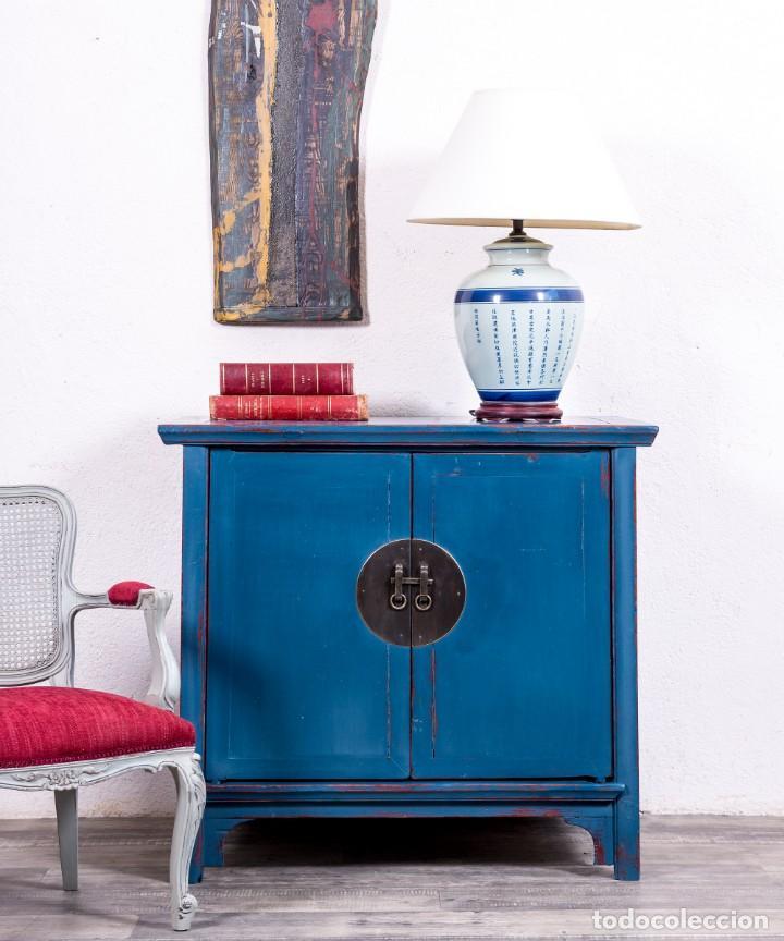 Ideas de decoración 2020: aparador antiguo azul
