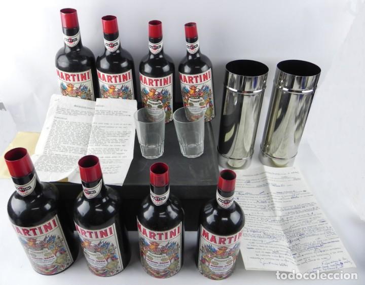 Truco de magia multiplicación de botellas de Martini