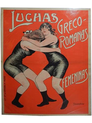 Cartel Luchas Grego-romanas femeninas